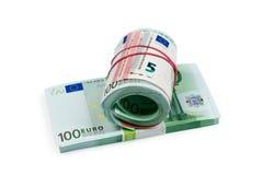 Euro money stack isolated on white background Royalty Free Stock Photography