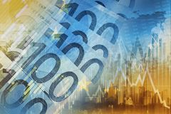 Euro Money Trading Concept Royalty Free Stock Photography