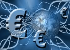 Euro, money transfer. Stock Photo