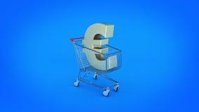 Euro money trolley concept. Stock Image