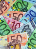 Euro Money Wallpaper. Stack of various Euro banknotes Stock Photography