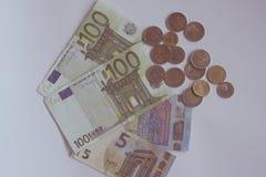 Euro money on white table. Stock Photography