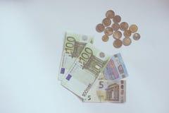 Euro money on white table. Royalty Free Stock Photo