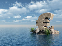 Euro monument Stock Image