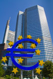 Euro monument in  frankfurt Royalty Free Stock Image