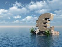 Euro- monumento ilustração do vetor