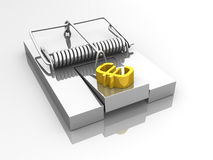 Euro mouse trap Royalty Free Stock Photos