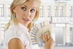 Euro- mulher Fotos de Stock