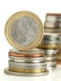 Euro munt Royalty-vrije Stock Foto's