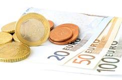 Euro munt Stock Afbeeldingen
