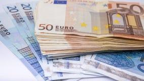 Euro munt/geldachtergrond/euro uitwisseling Stock Afbeeldingen