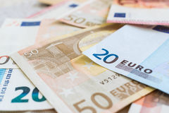 Euro muntachtergrond Royalty-vrije Stock Afbeelding