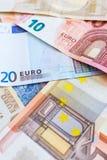 Euro muntachtergrond Royalty-vrije Stock Foto
