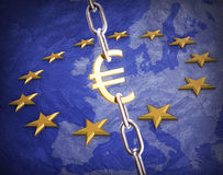Euro muntconcept Royalty-vrije Stock Afbeelding