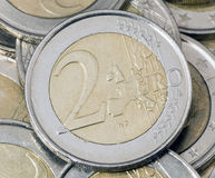Euro muntstuk Stock Afbeelding