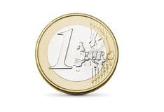 Euro muntstuk Royalty-vrije Stock Afbeeldingen