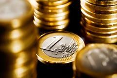 Euro Muntstuk Royalty-vrije Stock Foto's