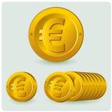 Euro muntstuk Stock Foto