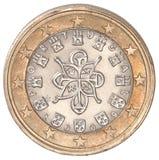 1 euro muntstuk Royalty-vrije Stock Foto