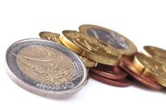 Euro muntstuk Royalty-vrije Stock Afbeelding