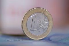 Euro muntstuk Stock Fotografie