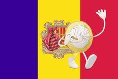 Euro muntstuk die Andorra verlaten vector illustratie