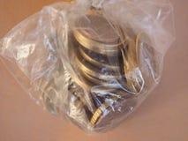 1 euro muntstuk, Europese Unie Stock Foto