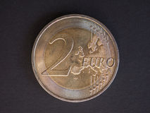 2 euro muntstuk, Europese Unie Royalty-vrije Stock Foto