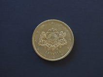 Euro muntstuk, Europese Unie Royalty-vrije Stock Foto