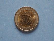 2 euro muntstuk, Europese Unie Stock Fotografie