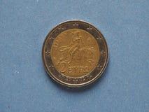 2 euro muntstuk, Europese Unie Royalty-vrije Stock Afbeeldingen