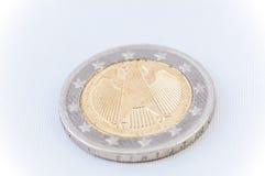 2 euro Muntstuk met Duits achtereind Royalty-vrije Stock Afbeelding
