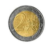 Euro muntstuk twee Stock Afbeeldingen