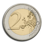 Euro Muntstuk twee - de Munt van de Europese Unie Royalty-vrije Stock Foto