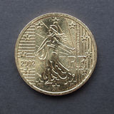 Euro muntstuk van Frankrijk Royalty-vrije Stock Fotografie