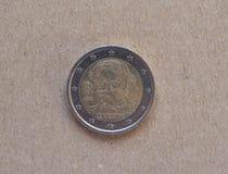 2 euro muntstuk van Italië Royalty-vrije Stock Afbeeldingen