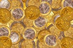 Euro muntstukachtergrond Royalty-vrije Stock Afbeelding