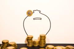 Euro Muntstukken één Stock Afbeelding