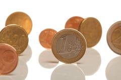 Euro muntstukken Royalty-vrije Stock Afbeelding