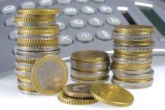 Euro muntstukken Stock Foto