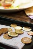 Euro muntstukken. Royalty-vrije Stock Afbeeldingen