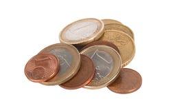 Euro muntstukken Royalty-vrije Stock Foto