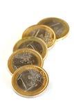 Euro muntstukken Royalty-vrije Stock Foto's