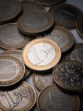 Euro muntstukken Royalty-vrije Stock Fotografie