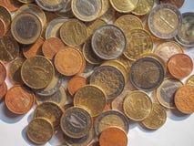 Euro muntstukken Royalty-vrije Stock Afbeeldingen