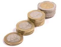 Euro muntstukken Stock Foto's