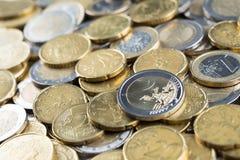Euro muntstukken Stock Afbeelding