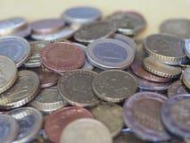 Euro muntstukken, Europese Unie Royalty-vrije Stock Foto