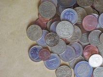 Euro muntstukken, Europese Unie Royalty-vrije Stock Foto's