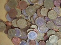 Euro muntstukken, Europese Unie Royalty-vrije Stock Afbeeldingen
